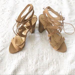 Sam Edelman yardley camel suede heeled sandal